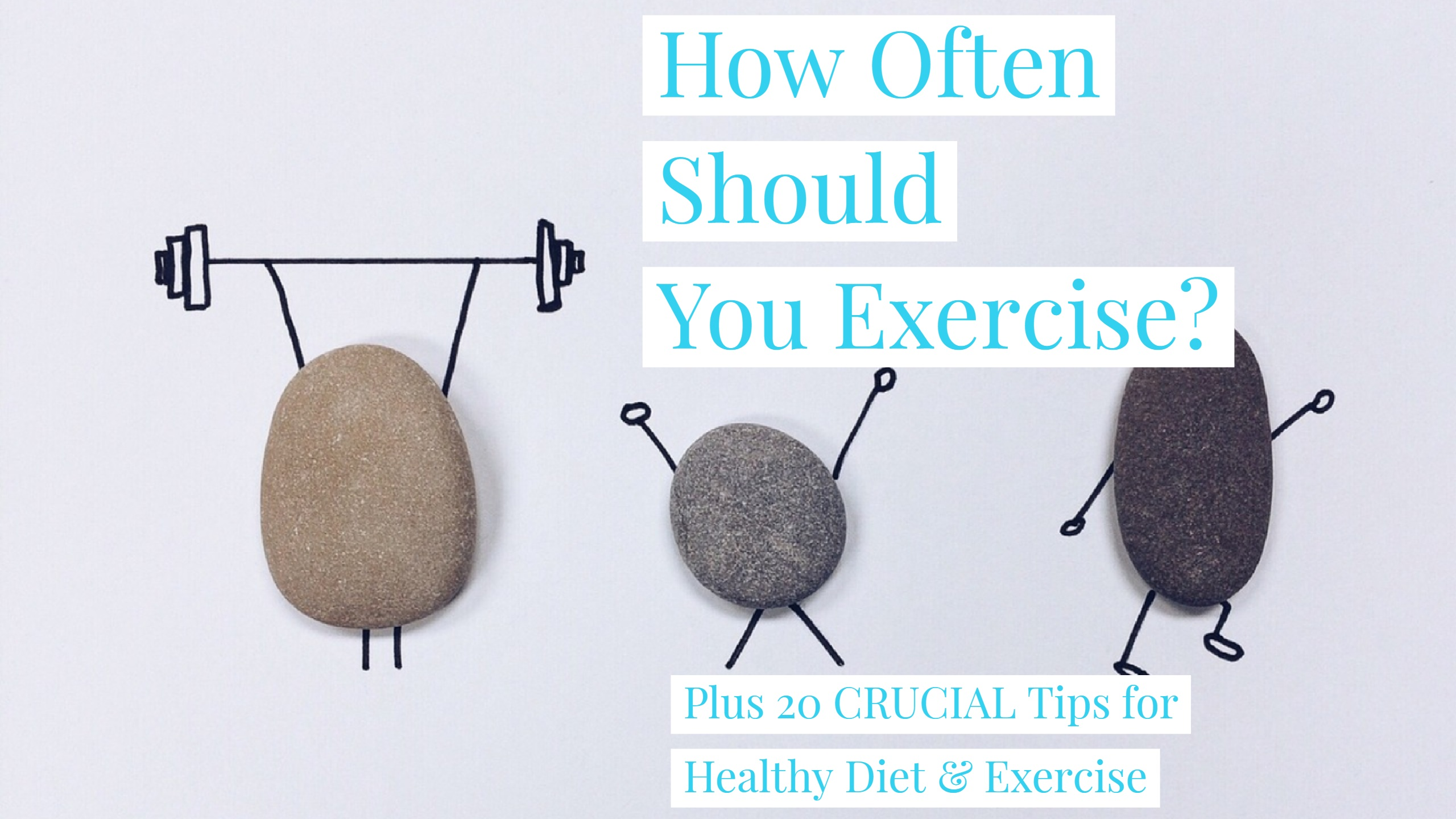 How often should you exercise each week?