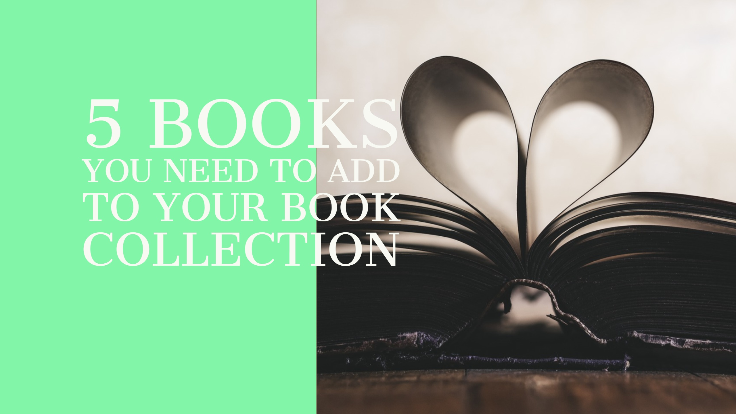 5 Books to Add To Your Book Collection