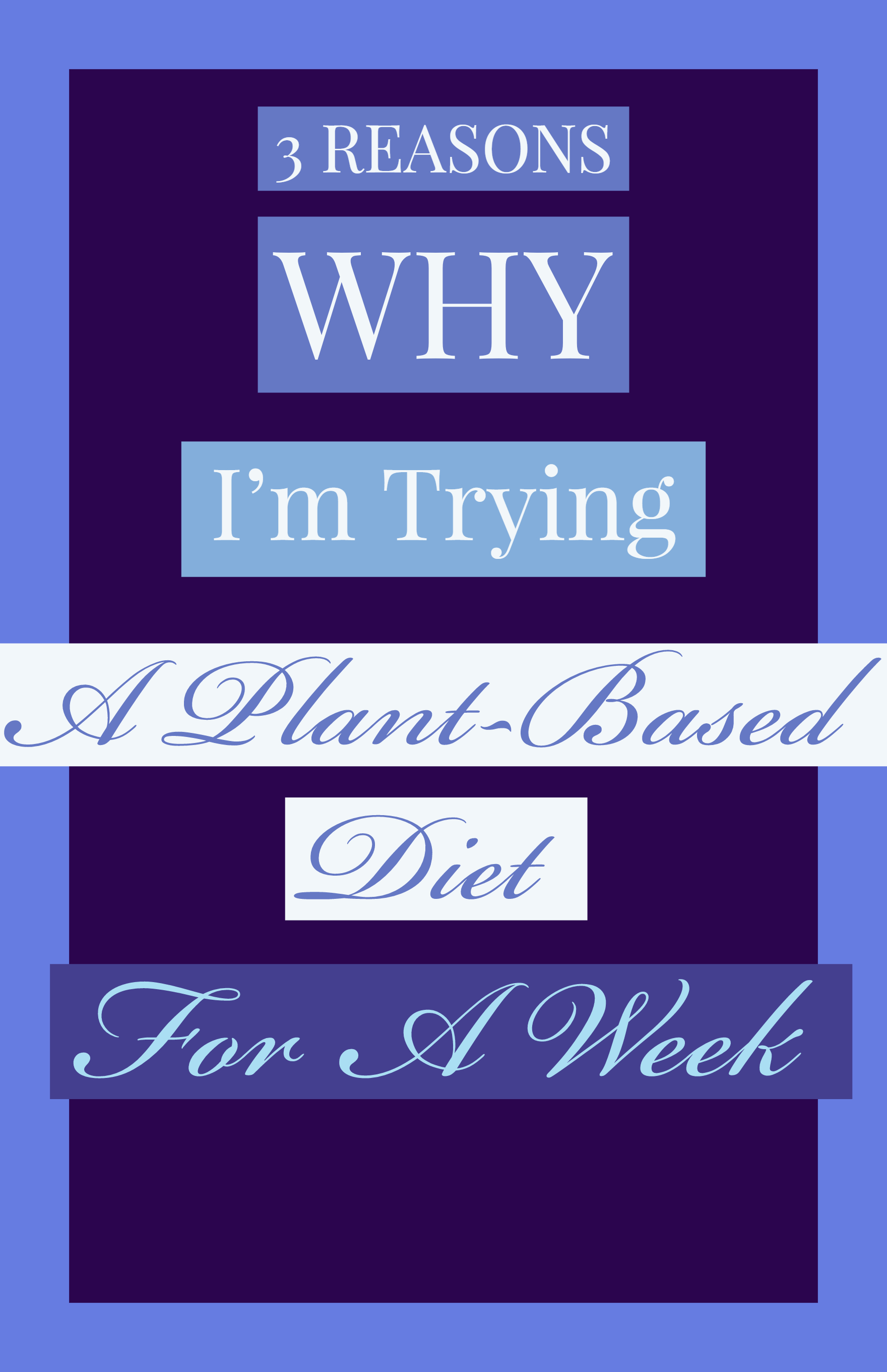 3 Reasons why I'm going plant-based for a week