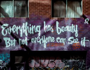 Everything has beauty, but not everyone can see it.