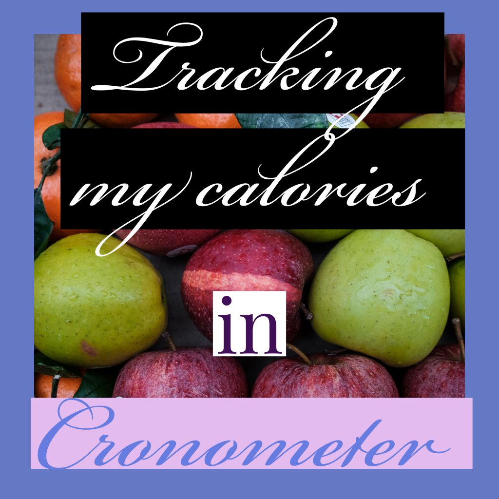racking my calories in Cronometer.