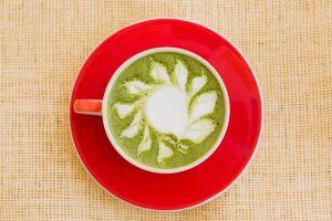self-care matcha latte